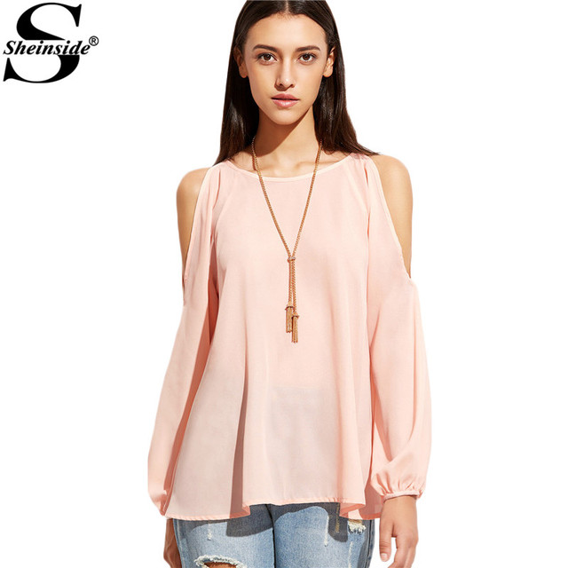 Aliexpress.com : Buy Sheinside Cold Shoulder Blouses Women 2017 ...