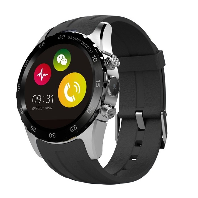"KW08 Waterproof Wireless Bluetooth Smart Watch 1.22"" Dispay Screen Smartwatch Support Android Phone SIM/TF Card With Camera"