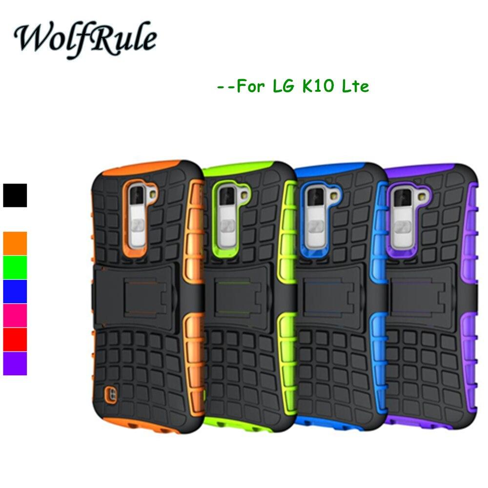 Wolfrule case para lg k10 case a prueba de golpes cubierta de silicona y plástic