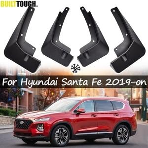 Car Mudflaps For Hyundai Santa Fe TM 2019-on Mud Flaps Splash Guards Mudguards Mud Flap Front Rear Fender Protector 2018
