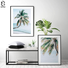 Maldivian Coconut Palm Tree Beach Sea Wall Art Canvas Painting Nordic Posters and Prints Wall Pictures for Living Room Decor coconut palm tree beach wall art canvas painting nordic landscape posters and prints wall pictures for living room unframed