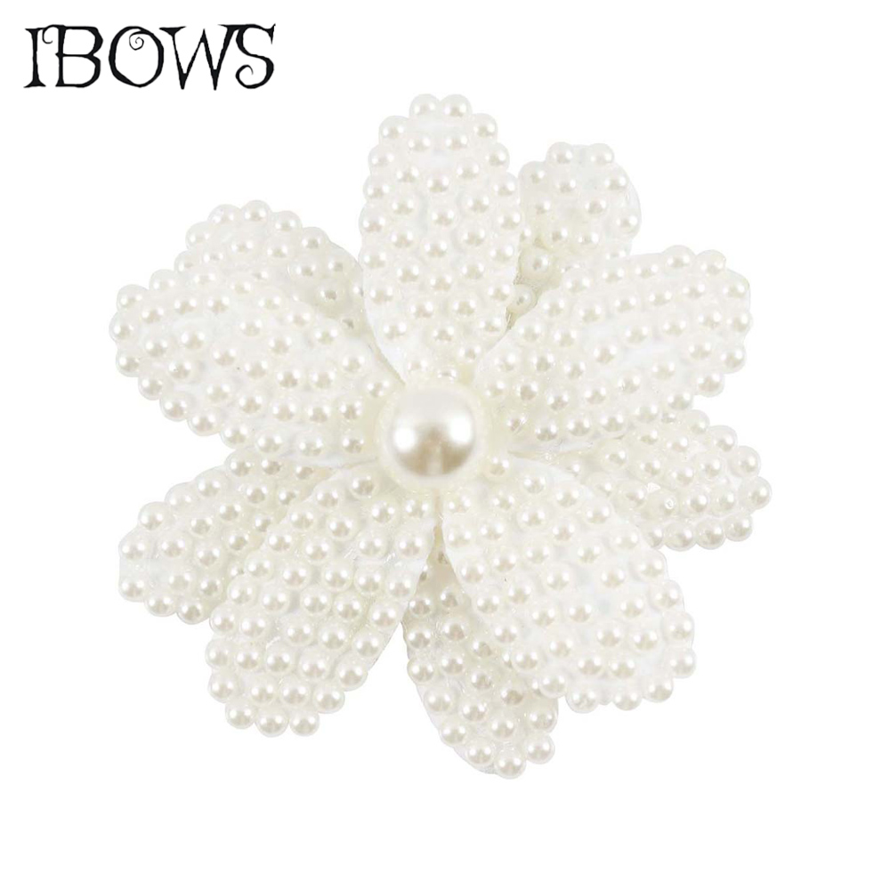 Beauty White Pearl Hair Bow Hair Accessories With Clips Flower Hair Grips Girls Alligator Hair Clip For Children Kids   Headwear