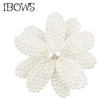 1Pc Beauty White Pearl Bow Hair Accessories With Clips Baby Flower Girls Alligator Clip For Girl Kid