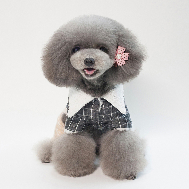 Dog clothes autumn and winter plaid sling four-legged cotton coat Chihuahua Teddy French bullfighting pet clothes