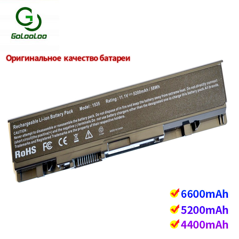 Golooloo 6 Cells Laptop Battery For Dell Studio 1535 1536 1537 1555 1557 1558 312-0701 A2990667 KM958 WU946 KM965 MT264