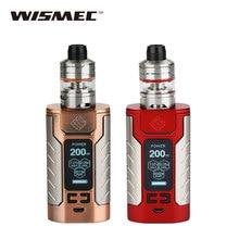 Original 200W WISMEC SINUOUS FJ200 TC Kit  2ml/4ml Divider Atomizer Fj200 Battery 4600mAh/200W E-cigarette Vape Kit 1.3-inch