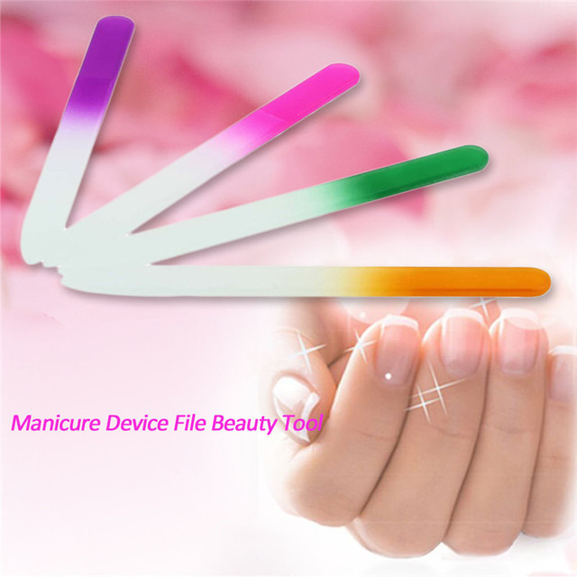 50pcs/lot Crystal Finger Nail Files For Natural and Acrylic Nails ...