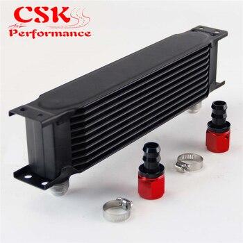 Linha 10 AN10 Universal Do Motor Transmissão de Alumínio 248 milímetros Tipo British Oil Cooler w/Kit de Acessórios Preto