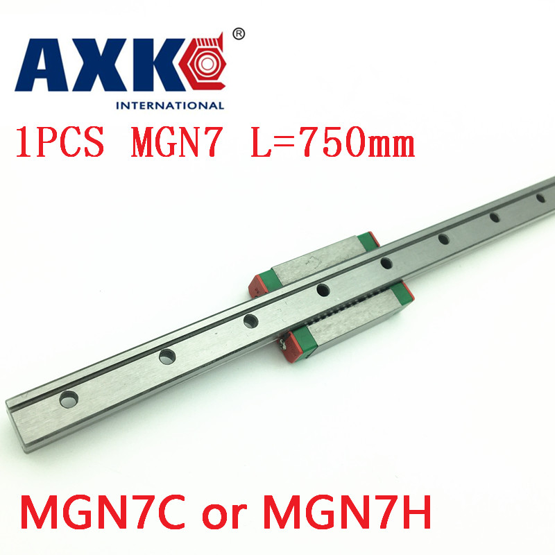 AXK rail mgn7 For 7mm Linear Guide Mgn7 L= 750mm Linear Rail Way + Mgn7c Or Mgn7h Long Linear Carriage For Cnc X Y Z Axis free shipping for 7mm linear guide mgn7 l 400mm linear rail way mgn7c or mgn7h long linear carriage for cnc x y z axis