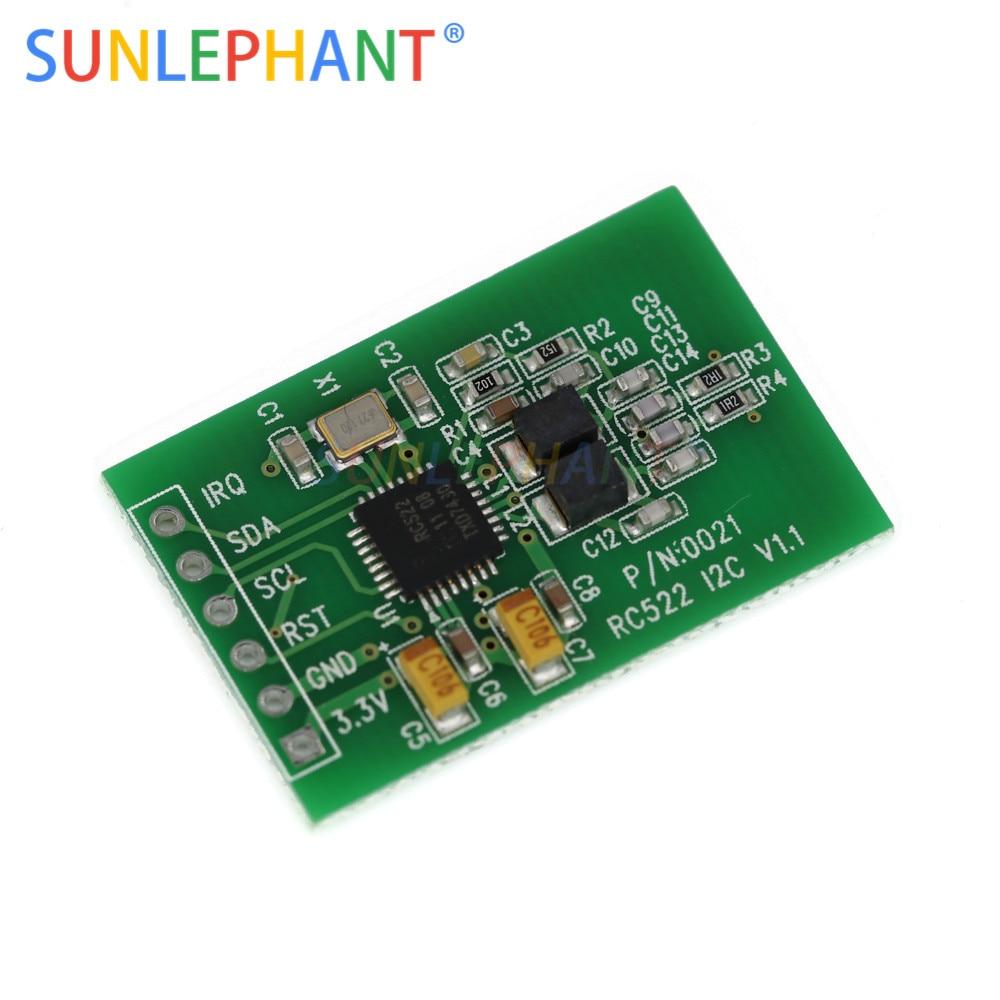 RC522 Escritor Leitor de Cartão RFID Módulo Sensor Módulo de Interface IIC I2C IC Módulo Sensor Cartão RF Ultra-Pequeno RC522 13.56 mhz