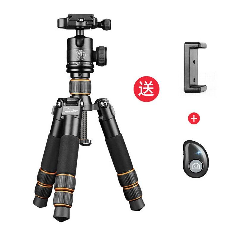QZSD Q166C professionnel Portable voyage en Fiber de carbone mini trépied pour reflex numérique DSLR appareil photo mini trépied