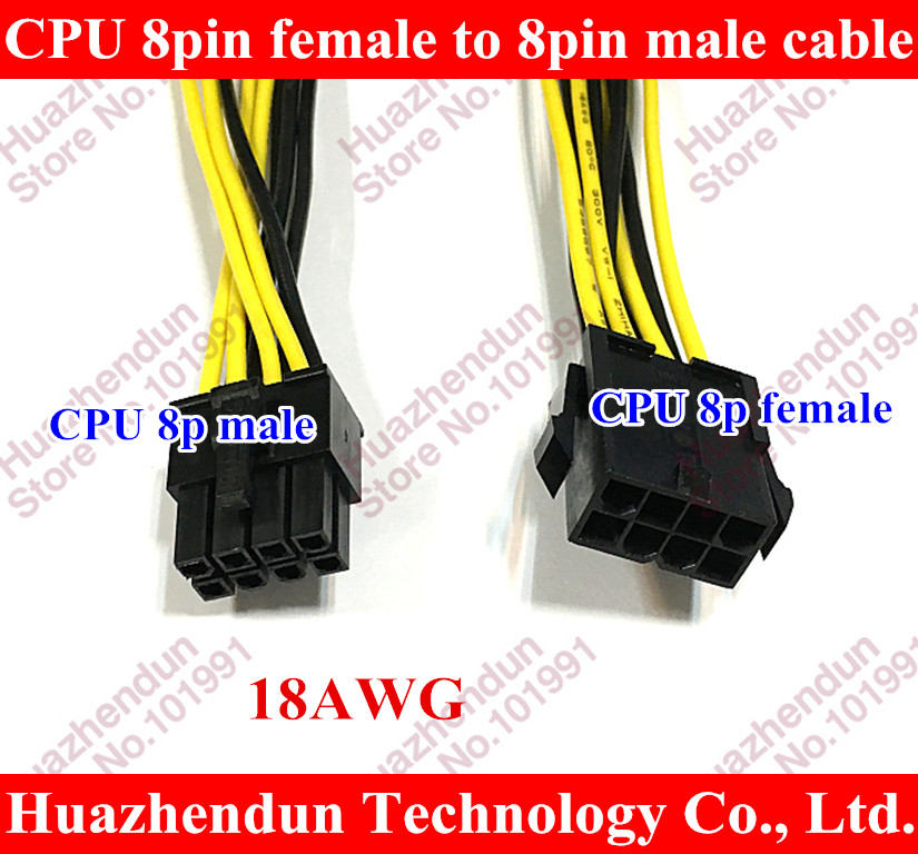 DHL/EMS 8 Pins Male to 8 Pins Female Molex Express Power Extension Cable Adapter Cord 20cm wire 18AWG For CPU High Quality factory promotion obd2 16pin to db9 rs232 for car diagnostic extension cable adapter scanner wholesale 25pcs lot dhl ems