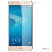 Voor Huawei Honor 5C GT3 Gehard Glas Protective Film Screen Protector voor Huawei Honor 5C 2.5D Clear Front Telefoon Glas cover(China)