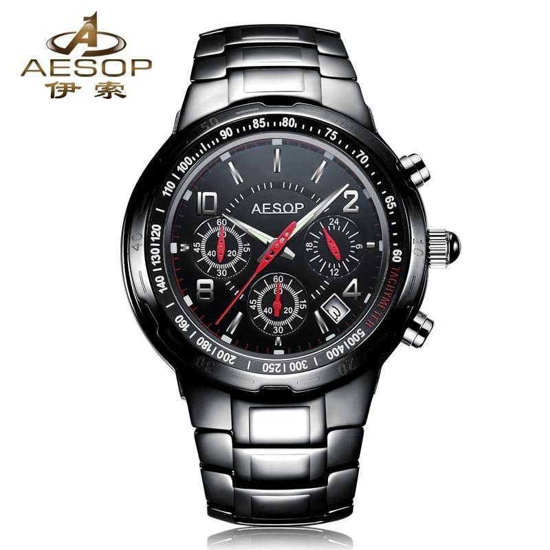 AESOP 9986 Switzerland watches men luxury brand genuine watches ceramic watches multifunction quartz watch relogio masculino
