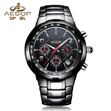 AESOP 9986 Switzerland watches men luxury brand genuine watches ceramic watches multifunction quartz watch relogio masculino