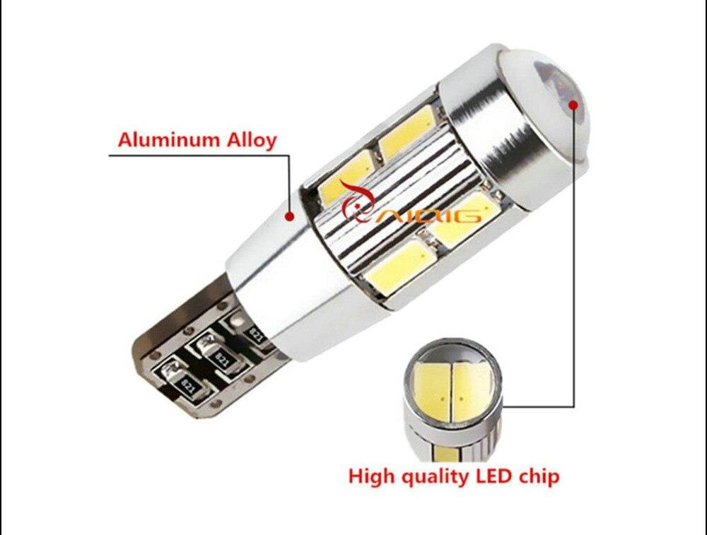 T10 W5W 5630 SMD Biały CANBUS OBC Brak błędu Lampa LED 501 Dash - Światła samochodowe - Zdjęcie 4