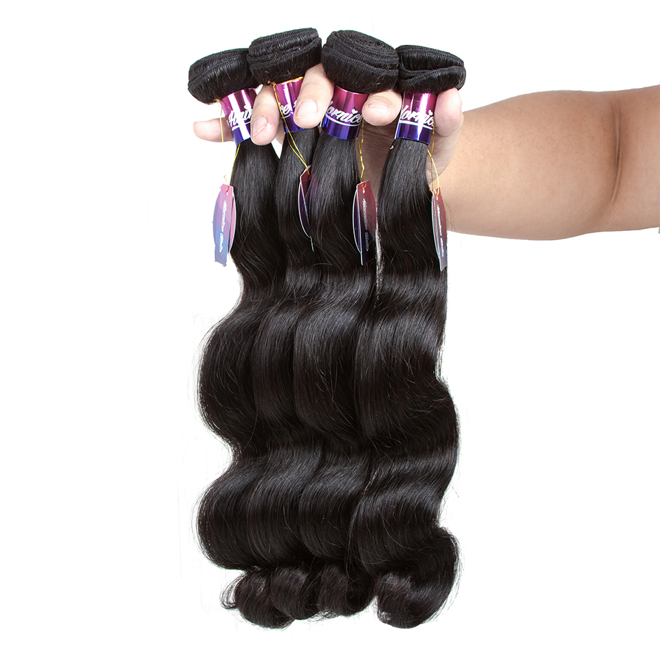 Brazilian Body Wave 3 Bundles Hair With Closure Natural Color Human Hair Bundles With Closure Non Remy Hair Extensions Mornice