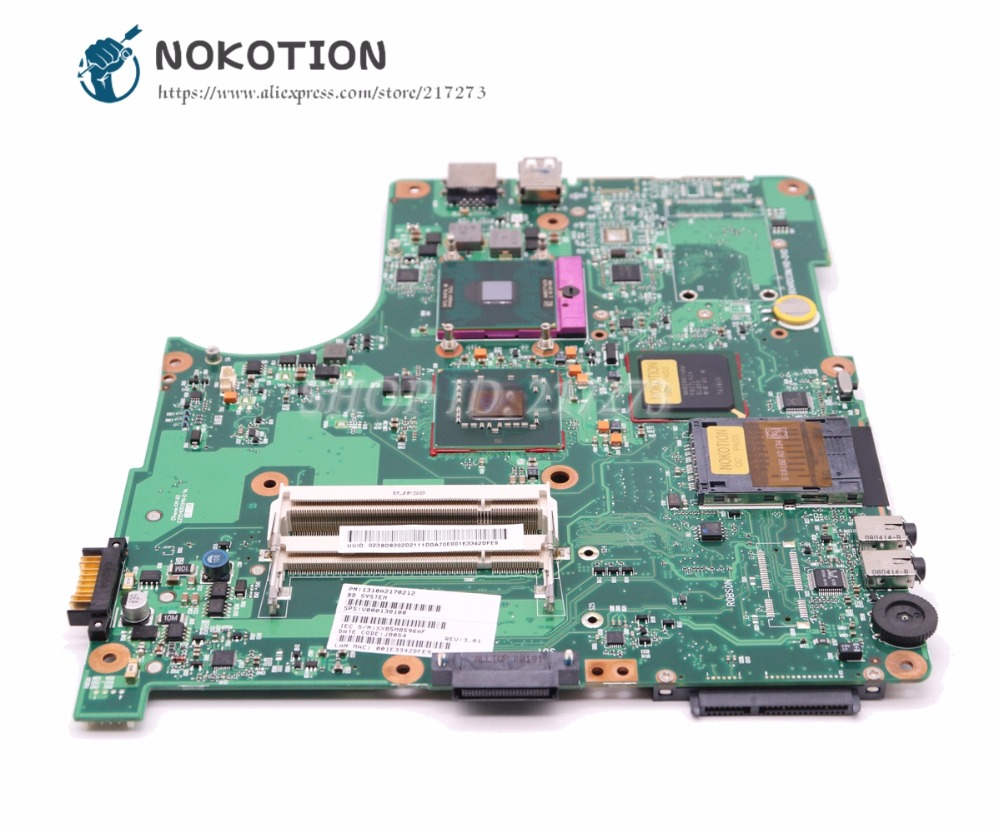 NOKOTION V000138100 MAIN BOARD For Toshiba Satellite L300 L305 Laptop Motherboard DDR2 Free CPU Full tested nokotion h000064160 main board for toshiba satellite nb15 nb15t ma10 laptop motherboard with n2810 cpu onboard