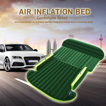 Universal Car Air Inflation Mattress Bed Auto Back Seat Cover Drive Travel Car Inflatable Bed Wave Design With Air Pump