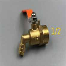 Boiler accessories ball valve High temperature hot water curved brass small 4 points 6 thickened red handle