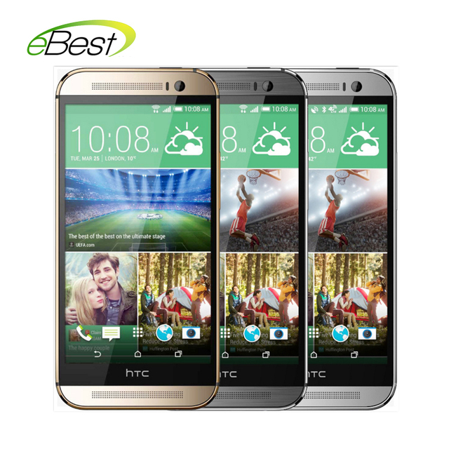 "Original HTC One M8 Unlocked 4G Lte Android smart mobile cell phone Quad-core 2.3 ghz CPU 2GB+16GB 5.0"" 1080p 4MP 3 Cameras"
