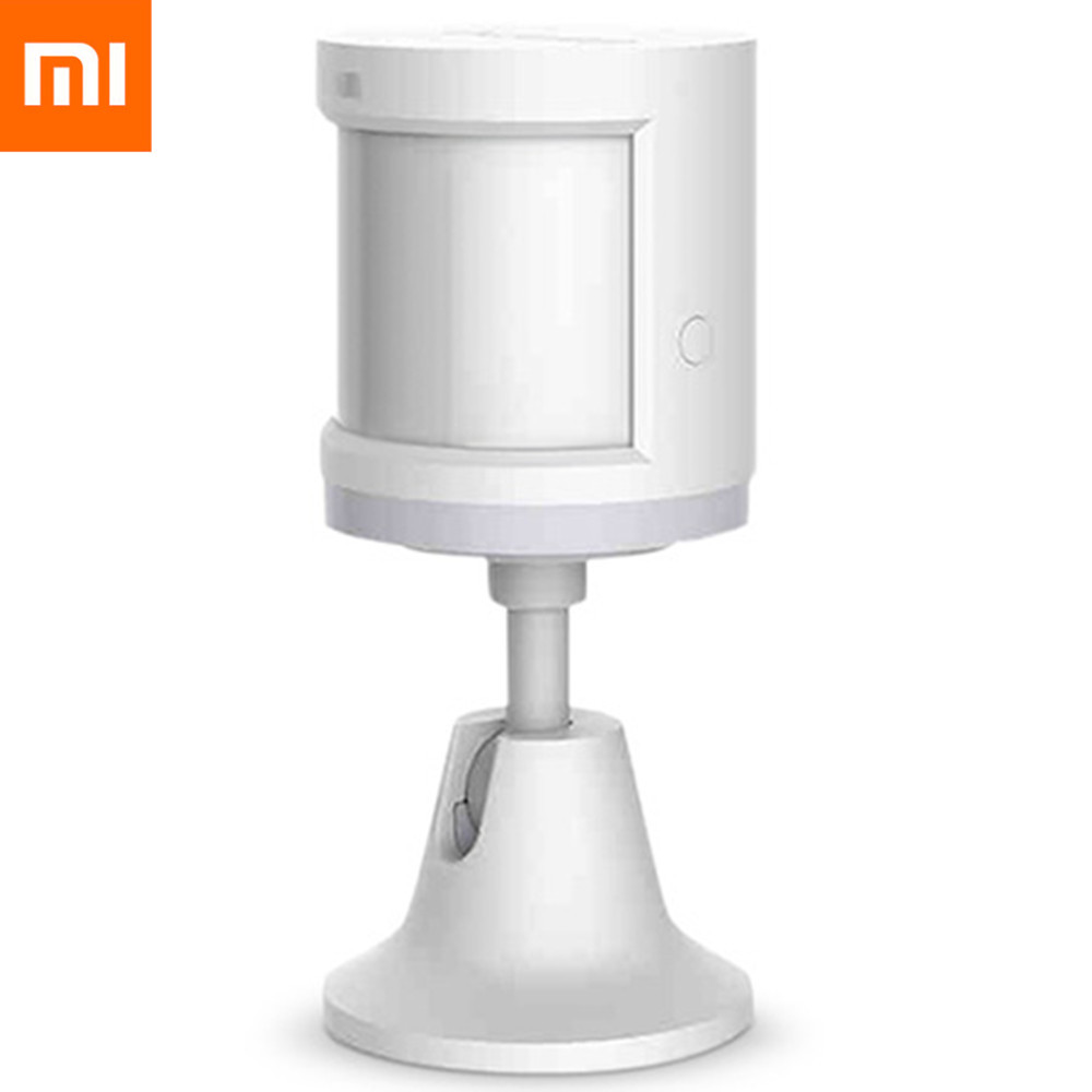 Original Xiaomi Home Aqara ZigBee Body Sensor Human Smart House Holder 7m Detection Distance Motion Sensor Wireless Mihome App