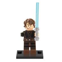 Single Sale legoing Star Wars Action Figure Anakin Skywalker Stormtrooper Han Solo Chewbacca Utapau Clone Trooper Building Block