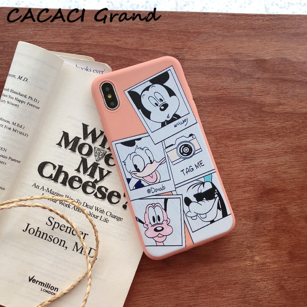 Case For iphone 6 6s Cover Mickey Donald Silicone Sketch Soft Shell Cover For Apple iPhone x 6 s 7 8 plus xs max xr Bags Funda