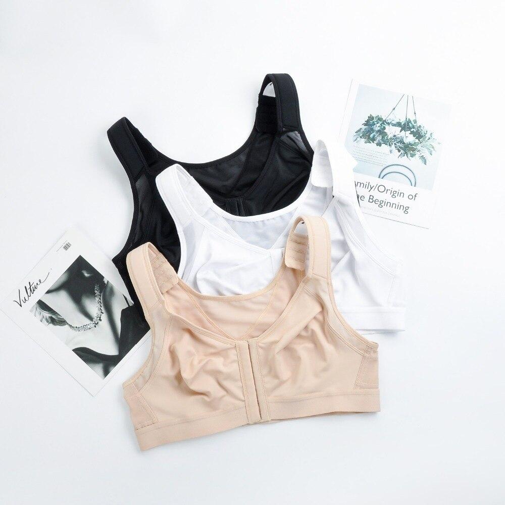 Image 5 - La Isla Women's Front Closure Back Support Wirefree Full Coverage Bra-in Bras from Underwear & Sleepwears