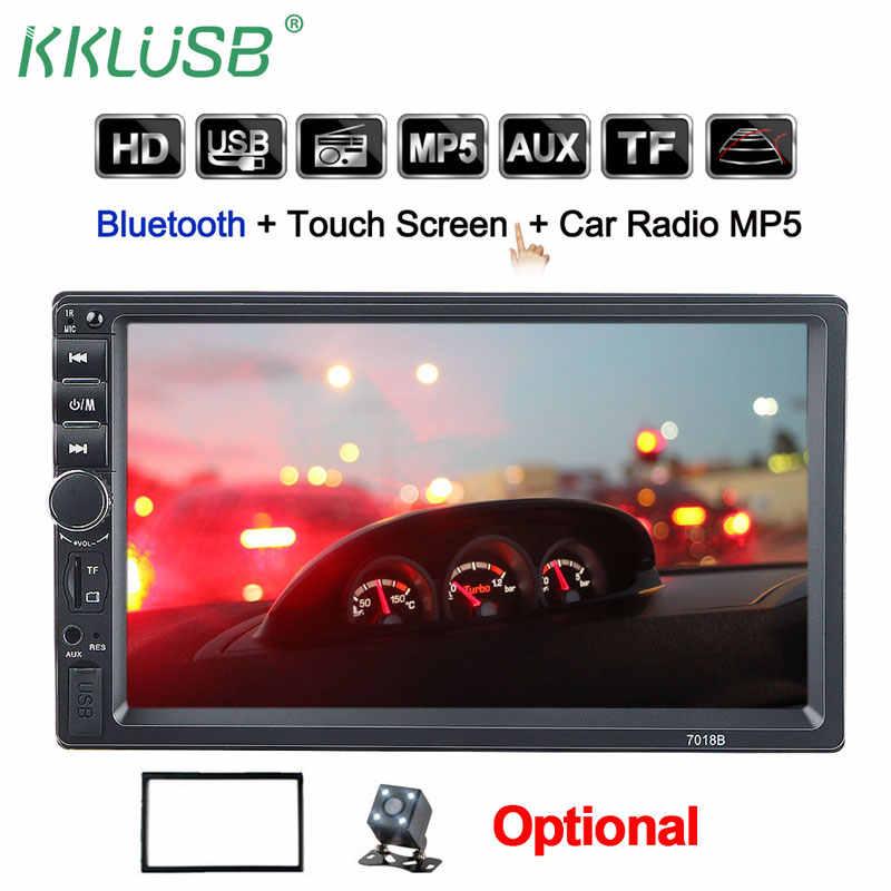 2din カーラジオ 7 インチタッチ mirrorlink Android プレーヤーサブウーファー MP5 プレーヤー Autoradio Bluetooth リアビューカメラテープレコーダー
