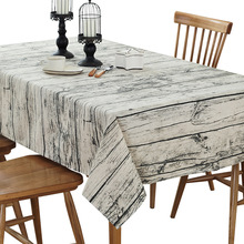 LOVRTRAL Retro Wood Grain Printed Cotton Sheets Towel Table rice Linen Tablecloth Decorative Cover Kitchen Home Decoratio