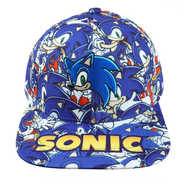 d7b6a6a0583 SORRYNAM Cute Cartoon Sonic The Hedgehog Hat Baseball Snapback Caps  Adjustable Hip Hop Hats For Adult Boys Girls Cosplay Gift