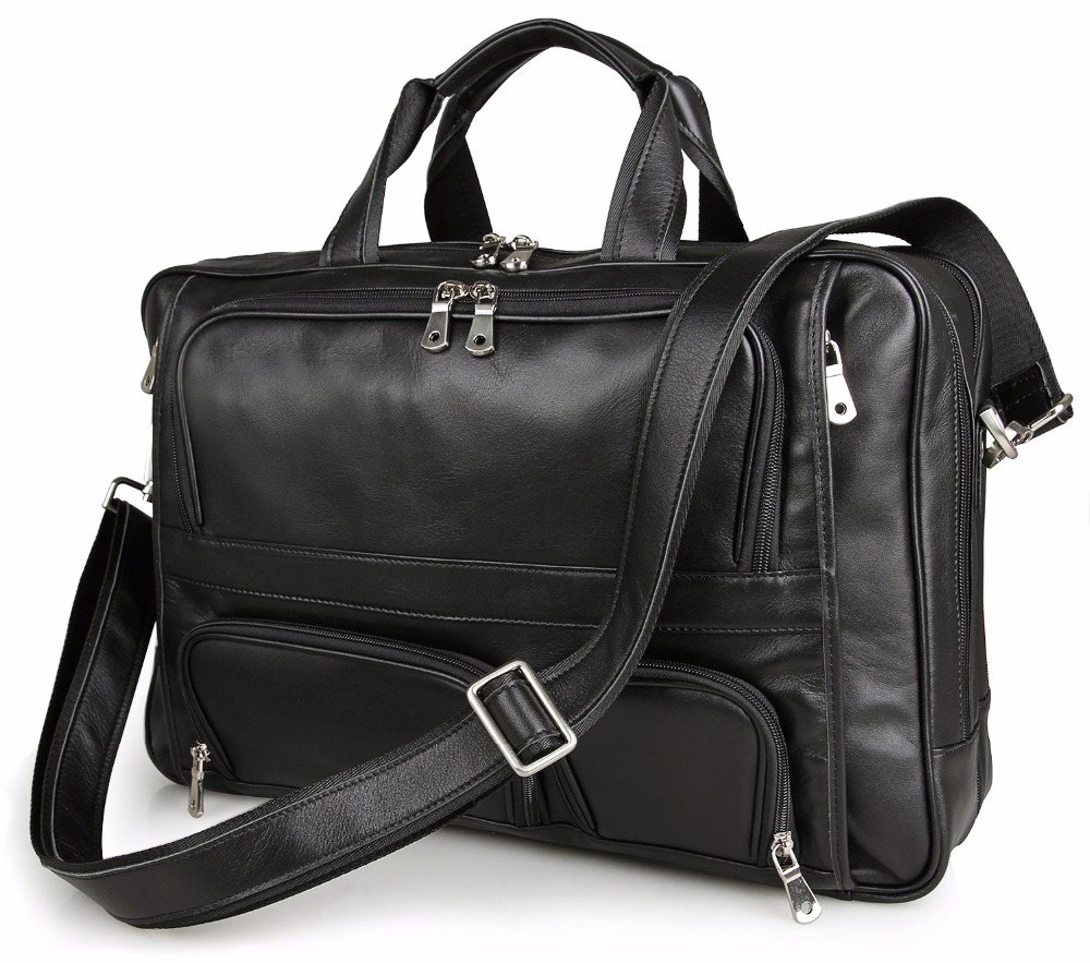 Augus Big Capacity Business Travel Bag Fashional And Classic Hand Bag Fist Layer Cow Leather Sling Bag 7289A aetoo the new oil wax cow leather bags real leather bag fashion in europe and america big capacity of the bag
