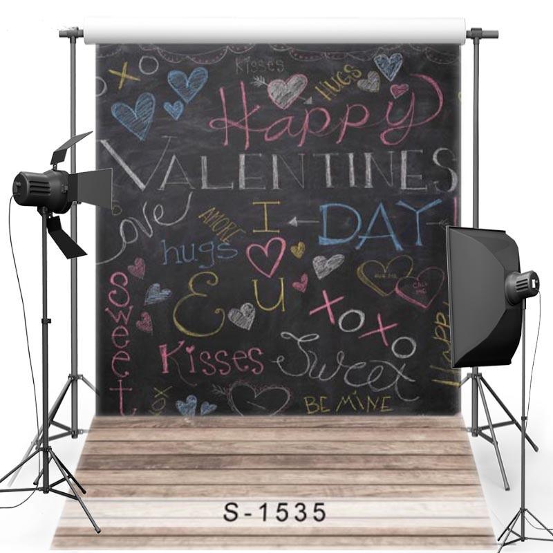 Blackboard fundo de fotografia de vinil para crianças piso novo tecido flanela pano de fundo para o dia dos namorados photo studio s1535