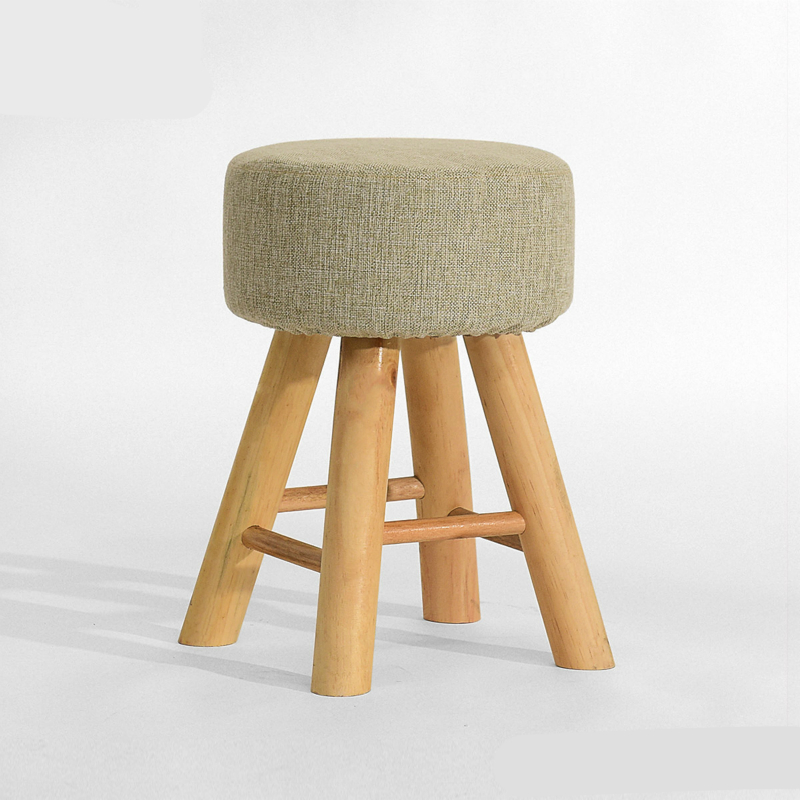 Thickened and Stable Wooden Stool Cloth Seat Washable Multifunction Stool Simple Style Household Dining Stool Dressing Chair nordic style simple solid wood dining chair multifunction leisure stool household study room chair with armrest washable seat