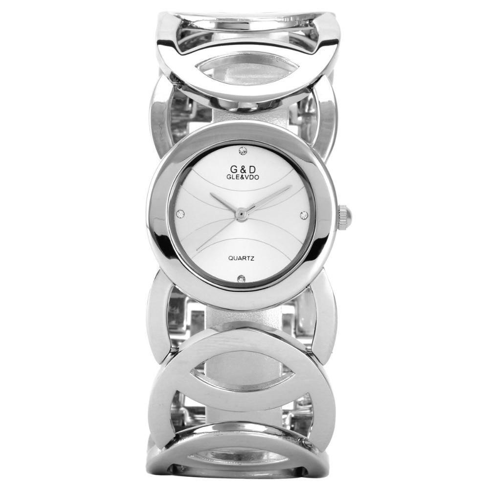 G & D merk dameshorloges 2017 gouden luxe armband horloge damesmode - Dameshorloges - Foto 1