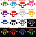 IVY QUEEN 16 Colors For Sony Playstation 4 PS4 Controller ThumbSticks Touchpad D-pad Share Option Home Face Buttons Mod Kit
