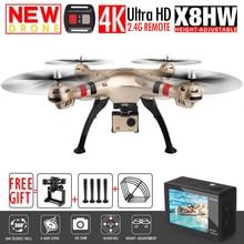 Новый syma x8w x8hw fpv rc летательный аппарат с 4 К/1080 P wi-fi камера HD Высота Удержания 6-осевой RTF RC Quadcopter Дрон Вертолет VS MJX X101