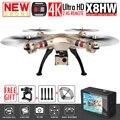 Nova syma x8w x8hw fpv zangão rc com 4 k/1080 p câmera wi-fi HD Altitude Hold RTF 6-Axis RC Quadcopter Dron Helicóptero VS MJX X101