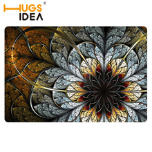 HUGSIDEA Floral Design Home Floor Carpet Unique Flower Printing Welcome Entrance Doormat Tapis for Living Room Bedroom Mats Rug