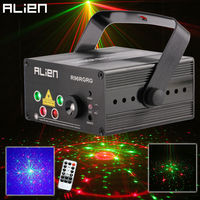 LED Laser Stage Lighting 5 Lens 80 Patterns Mini Led Laser Projector 3W Blue Stage Light