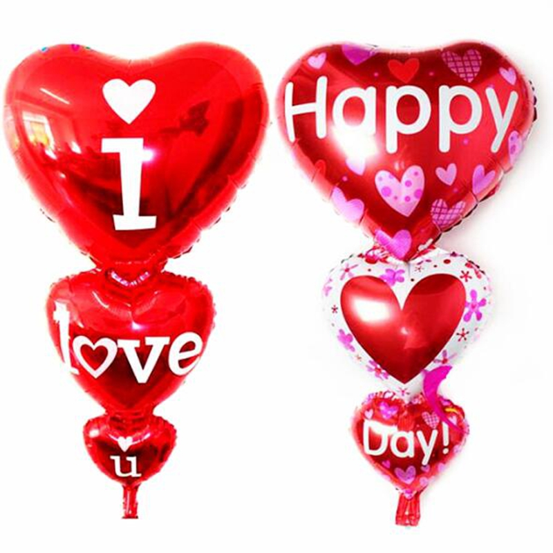 Romantic Connect Love Heart Shaped Foil Balloons Birthday Party