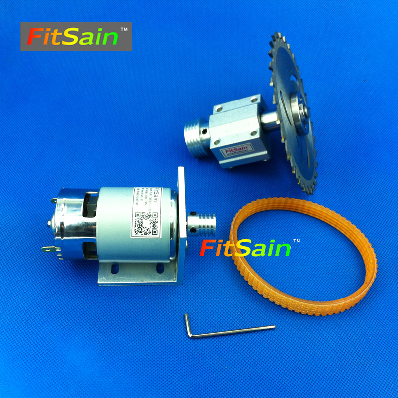 FitSain-Mini table saw for saw blade 16mm/20mm spindle Cutting saws Machine Pulley Bracket Ball bearing 775 24V 8000RPM no 1 twist plaster saws jewelry spiral teeth saw blades cutting blade for saw bow eight kinds of sizes 144 pcs bag