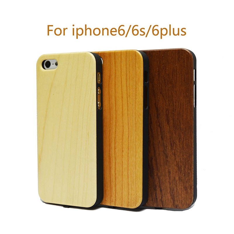 Wood Grain Qi Wireless Charger Receiver Phone Cover Case For iphone 6 6S Plus Power Charging Transmitter Phone Back Cover Case