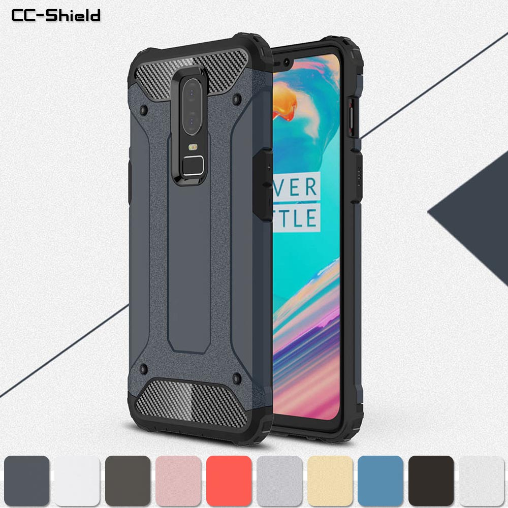 Armor Case for <font><b>OnePlus</b></font> 6 <font><b>A6000</b></font> A6003 OnePlus6 Phone Bumper Fitted Case for One Plus 1Plus 6 A 6003 6000 Frame Protection Cover image