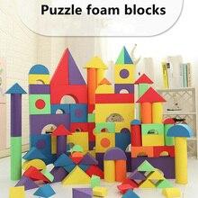 Монтессори EVA строительные блоки Набор 50 шт. безопасные детские игрушки для мальчиков и девочек раннее образование классический куб ToysToys Christma