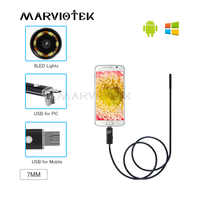 Endoscope 7mm USB Endoscope Camera HD Waterproof 2/5/10M Wire Snake Tube Inspection Borescope For OTG Compatible Android Phone