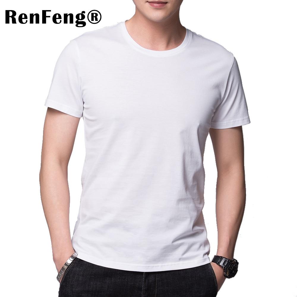 Solid color 100% Mercerized Cotton T Shirt Mens Black White T-shirts 2018 Summer Skateboard Tee Boy Hip hop Skate Tshirt Tops (1)