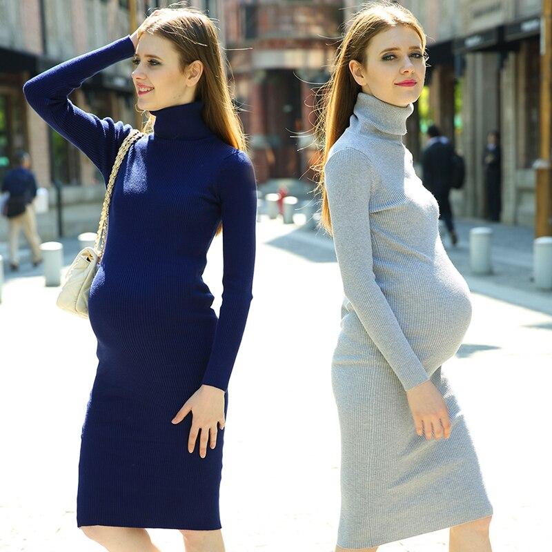 a3c704b8c Las mujeres de maternidad embarazada dress invierno ropa premama embarazo  maternidad túnica otoño vestidos de manga completo 702192 en Vestidos de  Mamá y ...