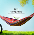 free shipping 230*150cm   New Huge Double Cotton Fabric Hammock Air Chair Hanging Swinging Camping Outdoor Red
